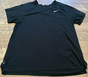 NIKE drIFIT Black Lightweight Gym Yoga Athletic Training Running Shirt womens 1X
