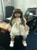 24in/60cm Reborn Baby Dolls Weighted Cloth Body Realistic Toddler Girl Real Size