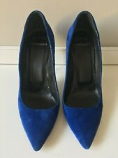 PIERRE HARDY Blue Suede Leather Heels - Size 39 EU - Made in Italy