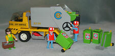 PLAYMOBIL  RECYCLING DUMPER TRUCK WITH BINS  SET 3780 Complete