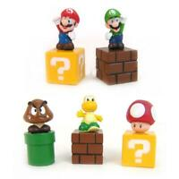 5pcs Super Mario Bros Action Figure Mini Figurines Cake Topper Doll Toy Gift Kit