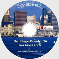 CA - San Diego County 1966 Phone Book CD - Searchable