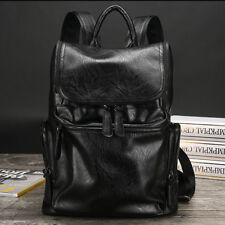 Genuine Leather Men Business Backpack Fashion Travel Satchel Laptop Bag Rucksack