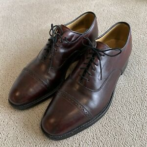 Johnston & Murphy Men's Aristocraft Burgundy Brown Leather Oxford Shoes Size 9 C
