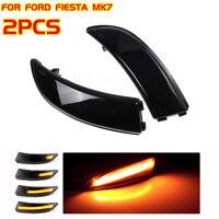 2X Dynamic LED Turn Signal Mirror Lights Indicator For Ford Fiesta MK7 2009-2014