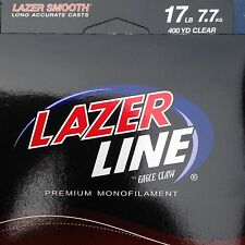 6 Spools 17 lb Laser Line Made In USA 400 Yd Each Premium Monofilament Fishing