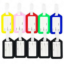 10x Luggage Tags Travel Suitcase Bag Tag Name Address ID Plastic Labels