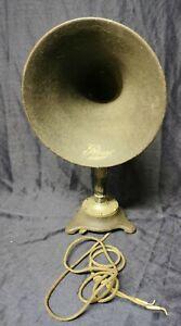 Vintage Antique REVO Baby Horn Loudspeaker Wireless Valve Radio Gramophone use