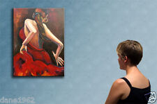 """27""""  GIRL DANCING  ----------------- original oil on canvas painting by ANNA !!!"""