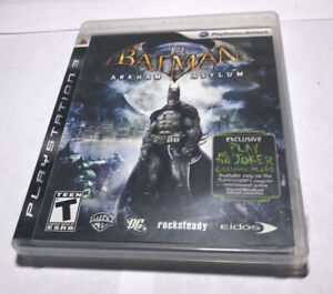 Batman Arkham Asylum PlayStation 3 Video Game PS3 Case & Manual Hard_8s_Magic