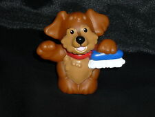 Fisher Price Little People Mechanic DOG Puppy Brush NEW