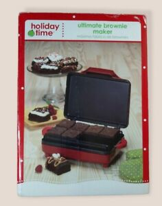 Holiday Time Ultimate Brownie Maker 900 Watts Makes 8 Brownies NEW