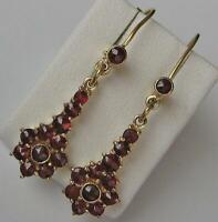 1 Paar Ohrringe mit Granate Granatohrringe Tracht in aus 8 Kt. 333 Gold Damen