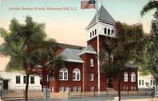 Richmond Hill Long Island NY Johnson Ave School Antique Postcard K27956