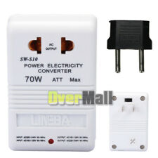 70W 110V to 220V Step-Up & Down Voltage Converter Transformer+US to EU Converter