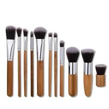 Handy 11pcs Mini Natural Bamboo Foundation Blending Makeup Brushes Tool DQUS