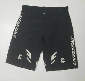 Cannondale Mens Baggy Cycling Shorts Black Pockets Stretch Hook And Loop M