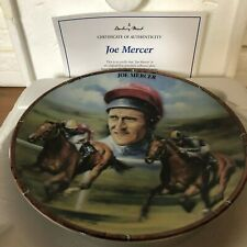 RACEHORSE PLATE JOCKEY JOE MERCER DANBURY MINT ROYAL WORCESTER CERT & BOX
