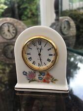 "Vintage Aynsley ""Cottage Garden"" Fine Bone China Miniature Clock"
