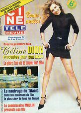 CINE REVUE 1998 N°1 celine dion toshiro mifune pierce brosnan 007 yves renier