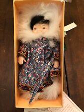 """Pauline Bjonness-Jacobsen 6.5"""" Doll Kyrok Limited 247/5000 Inuit Eskimo NIB"""