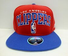 Adidas NBA Los Angeles Clippers Arch Block Logo 2 tone Snapback Hat Cap New