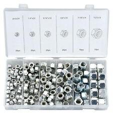 Neiko 146 PC SAE Nylon Insert Steel Lock Nuts Assortment Set W/ Case