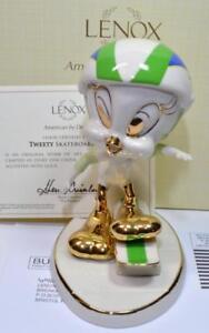 "NIB LENOX Fine China LOONY TUNE Series TWEETY SKATEBOARDING 5 1/2""h Figurine"