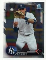 2016 Bowman Chrome GLEYBER TORRES Rookie Card RC #143 FIRST 1st NEW YORK YANKEES