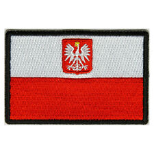 Embroidered Poland Polish Flag Sew or Iron on Patch Biker Patch