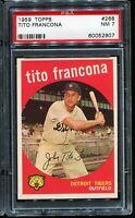 1959 Topps Baseball #268 TITO FRANCONA Detroit Tigers PSA 7 NM