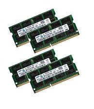 4x 8gb 32gb ddr3 di RAM 1333 MHz IBM Lenovo Thinkpad w520-Samsung pc3-12800