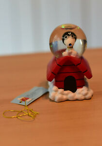 Peanuts Snoopy Westland Snow Globe Flying Ace Waterglobe