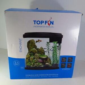 Top Fin Enchant Fish Tank Aquarium- 3.5 gal VGC