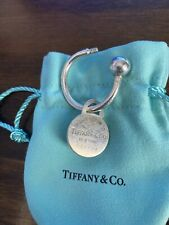 TIFFANY & Co. Sterling Silver 925 Key Ring & Tag Boxed & Pouched.