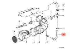 Genuine BMW E34 Estate Saloon Mass Air Flow Sensor Hose OEM 13411735325