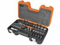 Bahco S530T Pass-Through Socket Set of 53 Metric 1/2in Drive