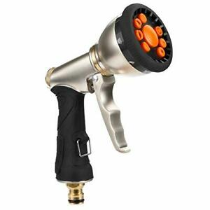 Vintoney Garden Hose Nozzle Spray Gun, 9 Adjustable Patterns Multi Water Gun
