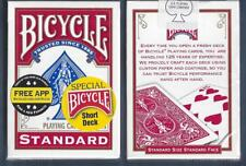 1 DECK Bicycle SHORT DECK red gaff magic playing cards USA SELLER!
