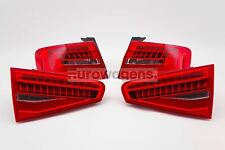 Audi A4 B8 12-15 Saloon LED Rear Lights Lamps Pair Set Left Right OEM Hella