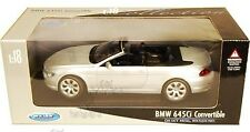 WELLY 1:18 AUTO BMW 645 Ci CONVERTIBLE ARGENT 12547