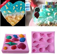 Molde De Glaseado Silicona 3D Concha De Mar hornear pastel de chocolate Topping azúcar Artesanales