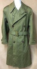 Vtg M1946 Military Field Overcoat Sz Med Wool Liner Post Wwii Pre Korean War Era