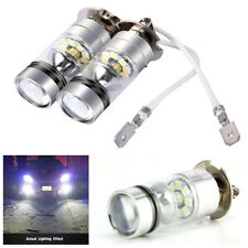 2X H3 White 6000K 100W 3030 SMD 20 LED Car Signal Turn Brake DRL Fog Light Bulbs