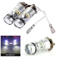 2X H3 White 6000K 100W 3030 SMD 20 LED Car Signal Turn Brake DRL Fog Light Bulbs