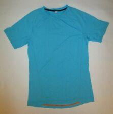 Lululemon Mens Short Sleeve Blue V-Neck Yoga Running Gym Basketball Lounge Euc S