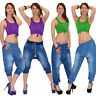 Vaqueros Mujer Pantalones Aladino Pantalón Bombachos En Bomba Estilo J10 ES
