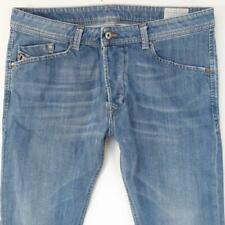 Mens Diesel DARRON 0807S Stretch Slim Tapered Blue Jeans W34 L30