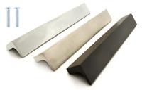 Polished Brushed Chrome Matt Black Kitchen Cabinet Door Drawer Furniture Handles