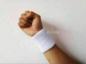 1pcs Unisex Cotton Wrist Wristband Sports Sweatband Sweat Band Yoga Basketball